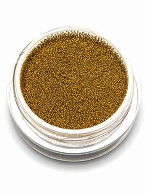 Материалы для декора Бульонки металлические золото, 0,4 мм