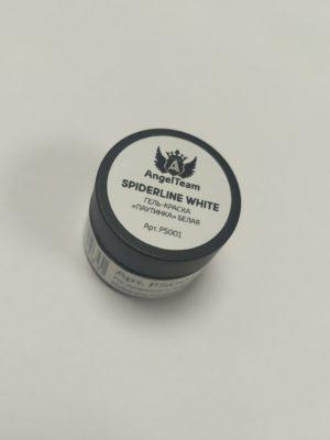 Гель-краски Гель краска AngelTeam c л/с Spiderline White (паутинка белая), 5 мл