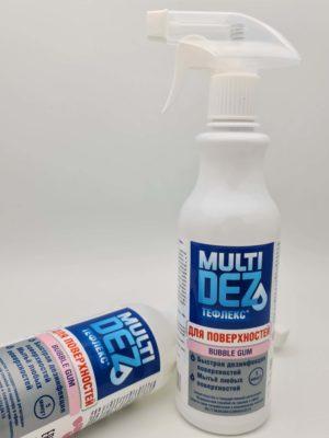 Дезсредства Мультидез-Тефлекс для дезинфекции и мытья поверхностей с отдушкой Бабл гам (триггер) 0.5 л быт