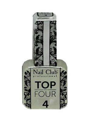Базы и топы Гель-лак Nail Club закрепляющий топ 4,18 мл