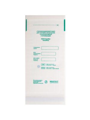 Пакеты для стерилизации Пакет для стерилизации МедТест 100*200 бумажный плоский ,100шт/уп