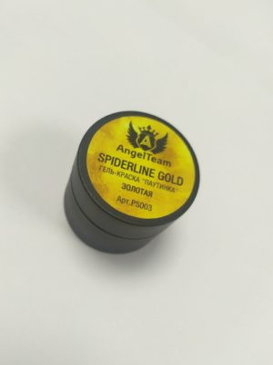 Гель-краски Гель краска AngelTeam с л/с Spiderline Gold (паутинка золото), 5 мл