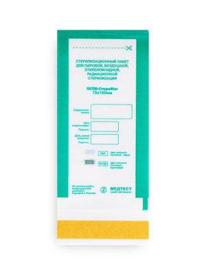 Пакеты для стерилизации Пакет для стерилизации МедТест 75*150 комбинированный, 100шт/уп