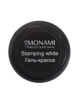 Гель-краски Гель краска Monami без л/с для стемпинга Stamping White, 5 гр