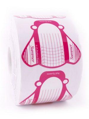 Сопутствующая продукция для наращивания Формы широкие розовые бабочка 6.5 см/500, 10 шт