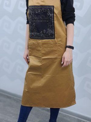 Аксессуары для мастера Фартук мастера Nail Club (бежевая кожа, ткань)