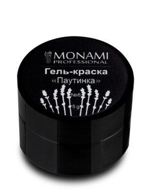 Гель-краски Гель краска Monami с л/с паутинка 6 (черный), 5 гр