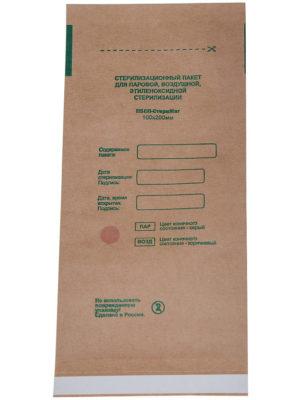 Пакеты для стерилизации Пакет для стерилизации МедТест 100*200 КРАФТ плоский, 100шт/уп