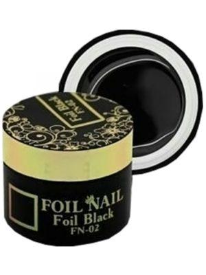 Гель-краски Гель-краска Nail Club для литья FN-02 Foil Black,5 мл